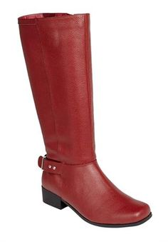 Aria Leather Wide Calf Boot by Comfortview®