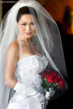 Gorgeous Vietnamese bride just before walking down the isle.