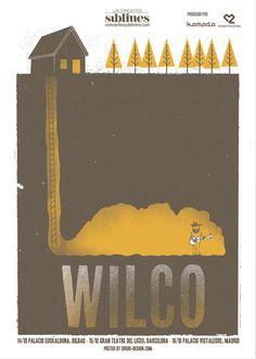 Probablemente mientras escribo más de uno de los post de este blog, se escuche de fondo Wilco. Es uno de mis grupos favoritos, pero hoy no he venido a hablar de su música, sino de sus posters. Sí, de los posters de sus conciertos y actuaciones en festivales. En vez utilizar un cartel genérico por …