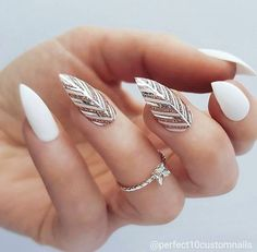 54 Unique and Beautiful Nail Designs To Try Now; Stiletto Nail nail a… 54 Unique and Beautiful Nail Designs To Try Now; Perfect Nails, Gorgeous Nails, Pretty Nails, Amazing Nails, Black Nail Art, White Nails, Chrome Nail Art, Pink Nail, Stiletto Nail Art