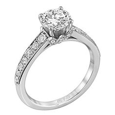 Artcarved Amelia 0.36 Carat Diamond Engagement Ring in 14K White Gold · 31-V203ERW-E · Ben Garelick Jewelers