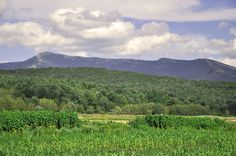 View of Mount Mansfield from Underhill, Vermont.
