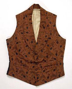 Waistcoat, 1830-1840, American or European, Made of silk
