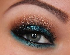 Step-by-Step: Poolside Glitter Goddess - I will never have the guts to wear this, but I love it.#Repin By:Pinterest++ for iPad#