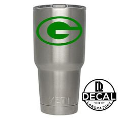 Yeti Decal Sticker - Green Bay Packers Decal Sticker For Yeti RTIC Rambler Tumbler Coldster Beer Mug