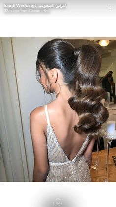 Gorgeous Holiday Hairstyles To Copy - Holiday Hairstyles, Fancy Hairstyles, Ponytail Hairstyles, Wedding Hairstyles, Wavy Ponytail, Good Hair Day, Great Hair, Beautiful Long Hair, Gorgeous Hair