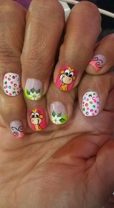 Uñas Makes You Beautiful, Nail Art Stickers, Cute Nail Designs, Nails Inspiration, Cute Nails, Pedicure, Make It Yourself, Nail Art Designs, Nail Arts