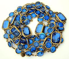 Vintage 1980s Chanel Crystal Sautoir Necklace.  (I have this in pink ...)