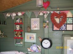"""The House That """"Ivy"""" Built, Cabin/Summerhouse from back garden in The Potteries owned by Ivan Gocol Allotment Shed, Allotment Ideas, Summer House Furniture, Shed Of The Year, Home Projects, Shabby Chic, Gallery Wall, Pottery, Holiday Decor"""
