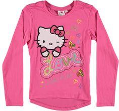 Hello Kitty Langermet Rosa T-skjorte