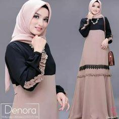 🌸Denora dress 🌸Ori by shofiya 🌸ㅤㅤㅤㅤㅤㅤㅤㅤㅤ De. by online shop Moslem Fashion, Abaya Fashion, Blouse Dress, Elegant Dresses, Womens Fashion, Model, How To Wear, Shopping, Muslim