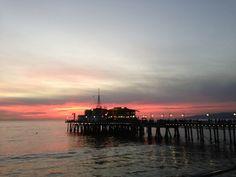 Sunset no Santa Monica Pier