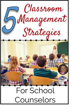 5 Classroom Management Strategies for School Counselors Counselor Chelsey has five great tips to manage elementary classrooms during school counseling lessons. http://confidentcounselors.com/2017/09/05/5-classroom-management-strategies-school-counselors/