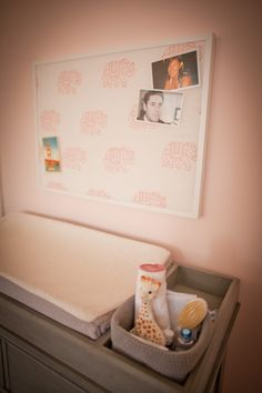 The tray on the Marlowe changing table is so practical. Love the space to hold diapers and supplies! #rhbabyandchild #fallinlove