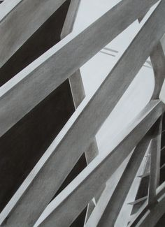 4th of 5 charcoal drawings - science museum, Valencia