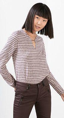 Esprit / Zart fließende Bluse mit Print