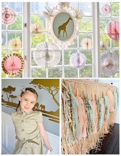Vintage Pastel Wild Safari Birthday Party via Kara's Party Ideas | KarasPartyIdeas.com (36)