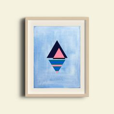 Pyramid Reflections IV is a premium quality giclee print on archival paper. A fine art print of an original painting / design made with ink and gouache. Framed Art Prints, Fine Art Prints, Paint Designs, Gouache, Giclee Print, Reflection, Original Paintings, Symbols, Ink