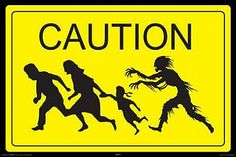 zombie party sign