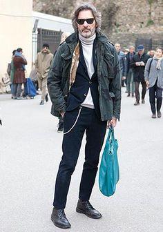 ジャケットスタイルにM65を羽織った着こなし【60代】(メンズ)