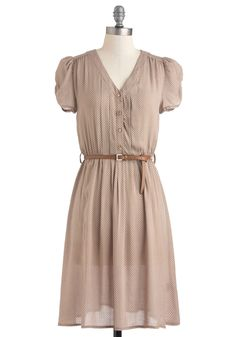 Take to the Wind Dress in Tan, #ModCloth