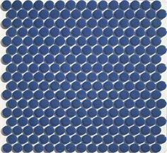 3/4 inch Glazed Navy Blue Porcelain Penny Tile