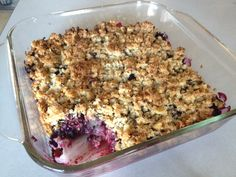 Paleo Berry Crumble-- healthy gluten free, dairy free