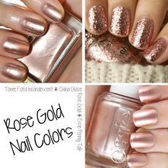 pinterest: @jaidyngrace Rose Gold Nail Polish