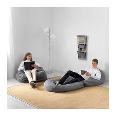 BUSSAN Sittesekk, inne/ute - grå - IKEA
