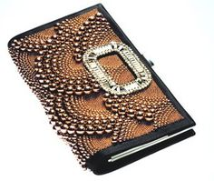 Roger Vivier Pilgrim Delux Caviar Clutch ;  ok finally vivier pilgrim something on here tho I have to gag a little due to the buckle. the rest is pretty coppery sweet tho.