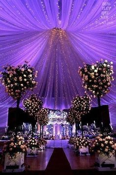 Idea for a purple wedding!