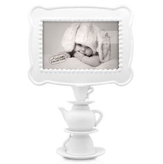 This is one of my favorites on totsy.com: Tea Time Pedestal Frame, White