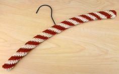 "Free Vintage ""Peppermint Stripe Hanger Cover"" pattern!"