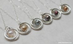 Learn how to make your very own pearl and spiral pendant necklace with this diy jewelry tutorial. These necklaces are very delicate and feminine and make for the perfect wedding jewelry or gift idea. It is a great jewelry tutorial for advanced beginners! #diyjewelry