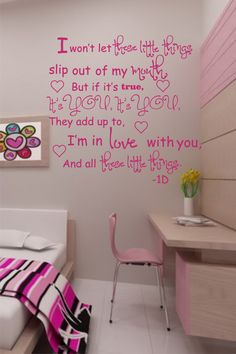 """SALE One Direction- """"These little things"""" vinyl wall decor"""