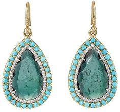Irene Neuwirth Women's Mixed-Gemstone Pear-Shaped Drop #Earrings  #sponsored #ad @kimludcom