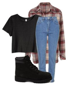 """""""8.27.15"""" by lexytj3 ❤ liked on Polyvore featuring H&M, Topshop and Timberland"""