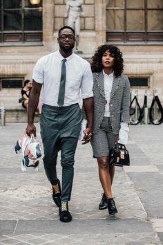 ♡ Ƒօӏӏօա ʍҽ ƒօɾ ʍօɾҽ թins yօu'ɾҽ ցօnnɑ ӏօѵҽ ♥️ Gabrielle Union and Dwyane Wade crushed Paris Fashion Week Street Look, Men Street, Street Wear, Paris Street, Couple Look, Couple Style, Couple Goals, Fashion Week Hommes, Fashion Week Paris