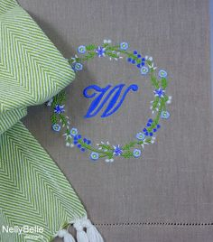 A new Spring monogram at NellyBelle Designs.