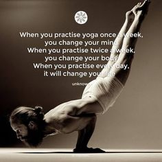 When you practise yoga once a week, you change your mind. When you practise twice a week, you change your body. When you practise every day, it will change your life :) Welcome to EkhartYoga EkhartYoga.com is a global online yoga community offering members high quality yoga and meditation classes by qualified, international yoga teachers. Give it a try! www.ekhartyoga.com