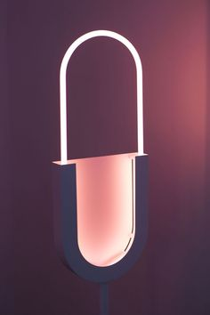 Mirage is series of lamps developed by Italian designer Giorgia Zanellato after her fascination with a specific kind of lighting: the neon. In the project the only source of light is provided by neon, offering a soft and colourful atmospher Neon Lighting, Lighting Design, Light Art, Lamp Light, Lampe 3d, Lampe Decoration, Interior Design Magazine, Interior Exterior, Solar Lights