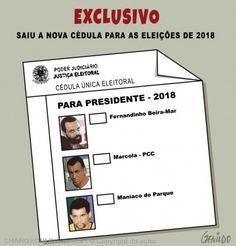 SONIA FURTADO: A NOVA CEDULA ELEITORAL PARA 2018......(PUTZ!)