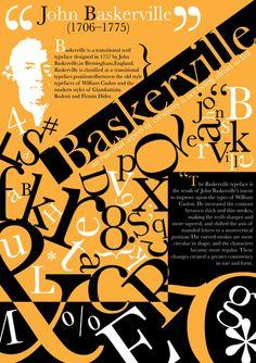 Baskerville - Type Specimen Poster.
