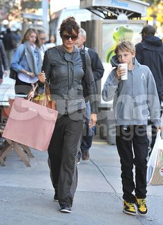 UK RIGHTS ONLY) Model Helena Christensen and son Mingus Lucien Reedus ...