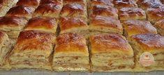 Hajtogatott tepsis tepertős Kids Meals, Mashed Potatoes, Banana Bread, Baking, Ethnic Recipes, Food, Cakes, Food And Drinks, Hungary