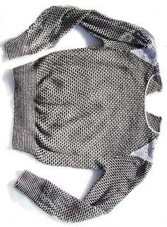 brick-patterned sweater with crochet shoulders - deadlyvintage.com   #vintage #70s
