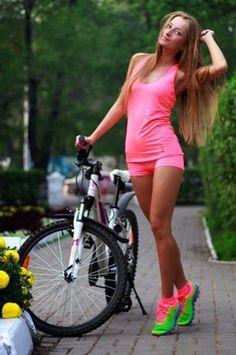 Cute Women And Girls On Bikes