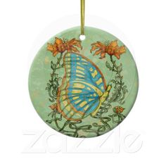 Holiday Art Nouveau Butterfly Ornament  http://www.zazzle.com/creativeworlds?rf=238274821096031189