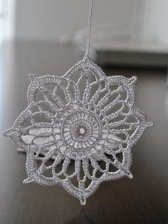 Crochet snowflakes, for Christmas decorations, set of 6 snowflakes, wonderful for your Christmas tree. Coolest DIY Snowflakes you can make easily You can see that people have started preparations for Christmas season. Crochet Snowflake Pattern, Christmas Crochet Patterns, Holiday Crochet, Crochet Snowflakes, Christmas Knitting, Crochet Motif, Crochet Doilies, Crochet Flowers, Crochet Stitches