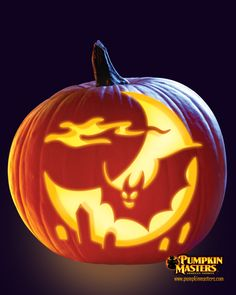 """""""Midnight Flight"""" pattern from the Pumpkin Masters Carving Party Kit."""